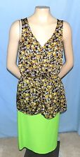 Awesome & Timeless Forever 21 Colorful Print Top Size Medium Career or Casual