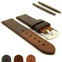 Men's Genuine Leather Watch Strap Band 18 20 22 24 26 28 SS. Buckle Maracana MM