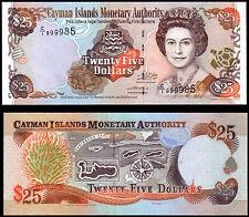 CAYMAN ISLANDS 25 DOLLARS (P31a) 2003 QEII UNC