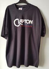 Eric CLAPTON 2004 World Tour Nero Local Crew T-shirt XL taglia extra-large da uomo
