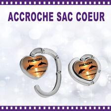 Accroche-sac coeur personnalisé DAUPHIN avec Prénom - St Valentin sac cadeau