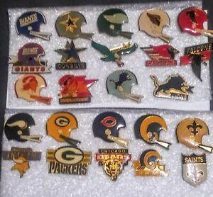 24x NFL Helmet/Team Logo Pin Lot