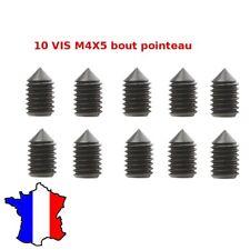 10 x Vis sans tête M4 x 5 STHC acier bout pointeau vis M4*5 six pans creux BTR