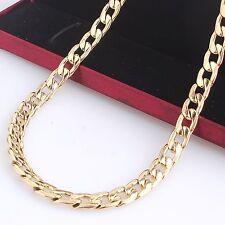 Herren Edelstahl Halskette Gold Panzerkette Goldkette Kette Königskette 18 Karat