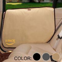 2Pcs Pet Dog Seat Cover Car Front&Rear Door Panel Puppy Protector Scratch Guard