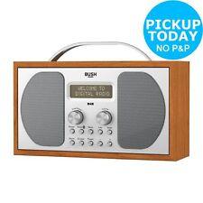 Bush DAB Bluetooth LCD Display Wooden Radio 3W RDS - Argos eBay