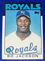 Bo Jackson, Royals, Raiders, 1986 Topps Traded, #50T, ROOKIE CARD RC, + LOT