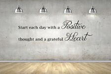 Positive Heart Inspirational Quote Wall Stickers 70cm or 100cm Black or White