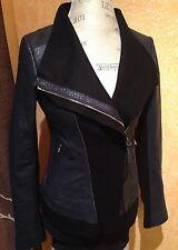 Stunning**Mackage Florica Navy Blue Leather Moto Jacket Coat Blazer XS, XSmall