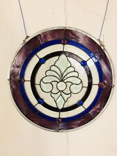 """Stained Glass Sun catcher Measures 21"""" See 9 pics4Closeups & details. MAKE OFFER"""