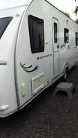 Fleetwood Sonata 6 berth touring caravan fixed bed
