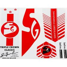 SG TRIPPLE CROWN Cricket Bat Sticker 3D Embossed + AU Stock + Free Shipping