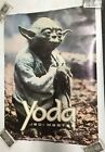 Vintage RARE Yoda Jedi Master 1980 Poster Star Wars Art - JW740