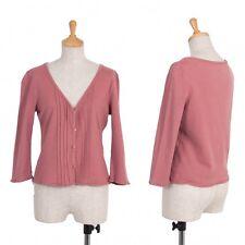 Jocomomola Cotton Pleats Cardigan Size 40(K-40134)