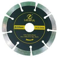 "125MM 5"" DIAMOND CUTTING DISC ANGLE GRINDER BLADE STONE BRICK CONCRETE TILE UK"