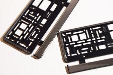 2 x Silber Kennzeichenhalter in Chrom Optik Kennzeichenrahmen  Halter Neu