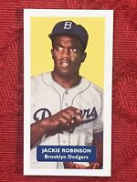 JACKIE ROBINSON BASEBALL CARD-DODGERS-RARE U.K.ISSUE-VERY SCARCE CARD-MINT