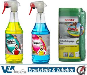 Reinigungs-Set Tuga Chemie 2x1L Sprühflaschen für KFZ Hobby Haushalt + Tücherbox