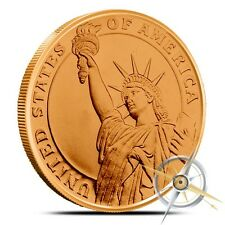 1 OZ .999 Fine Copper Statue Of Liberty Round Bullion - AVDP  - Coin