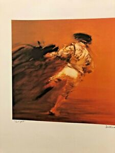 Pierre Doutreleau  TORERO BULL FIGHT Orig Lithograph Signed SPECIAL PRINTING