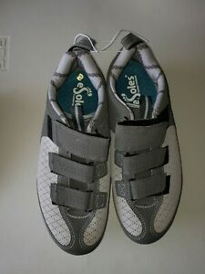 EUC BONTRAGER WOMENS INFORM STREET GRAY BICYCLE SHOES W/eSole Inserts - Size 9.5