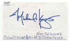 Michael E. Knight Signed 3x5 Index Card Autographed Signature All My Children