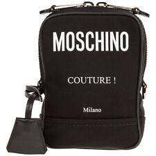 Moschino crossbody bags men A742582012555 Black small lined interior bag
