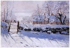 """Impressionism """"The Magpie"""" Claude Monet ca. 1869"""