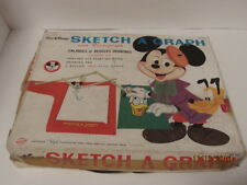 Vintage Walt Disney Sketch A Graph with Pantograph #502 Enlarges Drawings Mickey