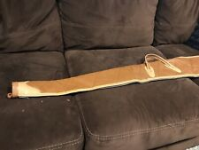 "48"" Canvas & Leather Shotgun Gun Soft Case Tan"