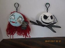 The Nightmare Before Christmas Jack & Sally Plush Doll 5 inches  Backpack Clips