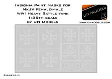 Paint Masks for Beutepanzer markings WWI Male/Female Mk.IV 1/35