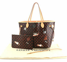 LOUIS VUITTON Catogram M44441 Tote Bag Pouch Neverfull MM Cat Animal Auth New LV