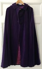 Purple Lined Velvet Cloak with Removable Hood and Arm Holes 13+