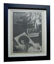 VIOLA WILLS+Soft Centres+RARE ORIGINAL 1974 POSTER AD+FRAMED+EXPRESS GLOBAL SHIP
