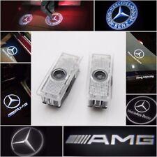 Proyector 4X Mercedes Benz puerta de automóvil LED de luces de cortesía Logo Láser Fantasma Charco