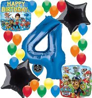 Paw Patrol Birthday Party Supplies Number Balloon Decoration Bundle For (4th ...
