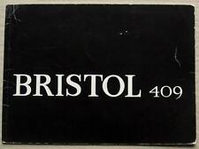 BRISTOL 409 Car Sales Brochure c1965