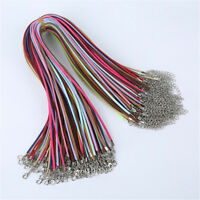 10 pcs Suede Cords 2.6mm Pendant Necklace Cord w/ Lobster Clasps Jewelry Making
