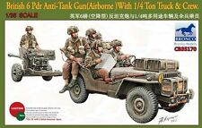 Bronco 1/35 35170 British 6 Pdr Anti-Tank Gun With 1/4 Ton Truck&Crew