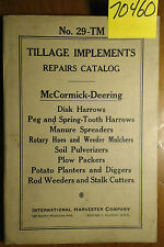 IH International Harvester McCormick-Deering Tillage Implements Service Manual