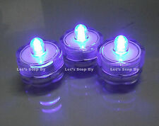 60 LED Purple SUBMERSIBLE Waterproof Wedding Party Floral Vase Tea Light