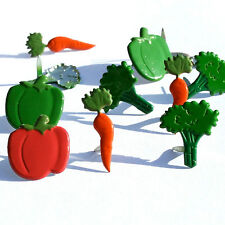 VEGETABLE BRADS ** 8 PCS ** PEPPERS, BROCCOLI, CARROTS ** SEE MY STORE **