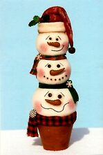 Primitive Pattern Snow buddy snow stack to make Great table centerpiece! #HH