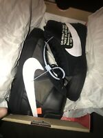 🔥NEW Nike Off-White x Blazer Mid Grim Reaper Shoes BLACK Size 6 100% Authentic!