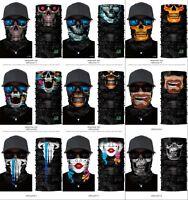 Tour de Cou Moto Tete de Mort Clown 3D Crane Cagoule Masque Multifonction Homme