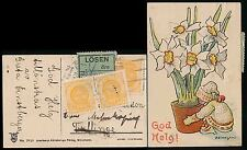 SWEDEN MINIATURE PPC 1910 CHARGED for REDIRECTION + LOSEN LABEL