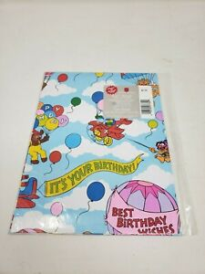 American Greetings Muppets Gift Wrap Wrapping Paper Sheets Vintage USA