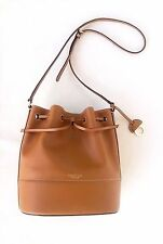 RRP$545 New OROTON Matilda Bucket Handbag Shoulder Bag Leather Tan Leather