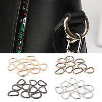 10pcs Metal D-Ring Buckle Loop Craft Bag Strap DIY Accessory AU